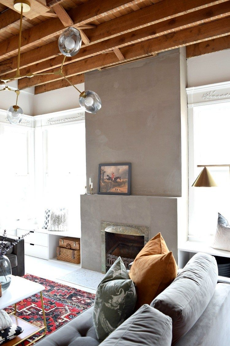 Photo of DIY Concrete Fireplace Makeover | Houseologie