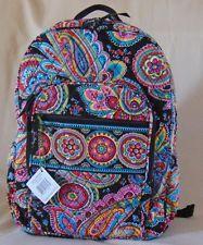Vera Bradley Campus Backpack Parisian Paisley NWT Plus Free Shipping USA Seller