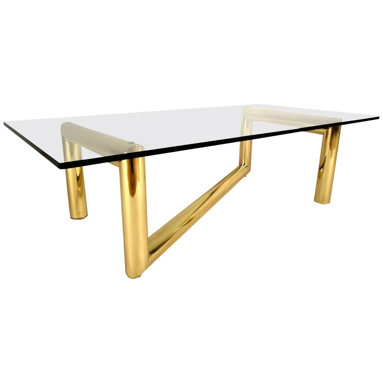 Gold Mid Century Modern Karl Springer Style Tubular Brass Zig Zag Sculpture Coffee Table For Sale Image 8 Of 8 Coffee Table Vintage Table Vintage Coffee [ 1500 x 1500 Pixel ]