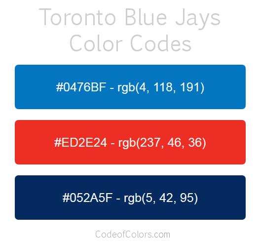 77359c021d0 Toronto Blue Jays Team Color Codes