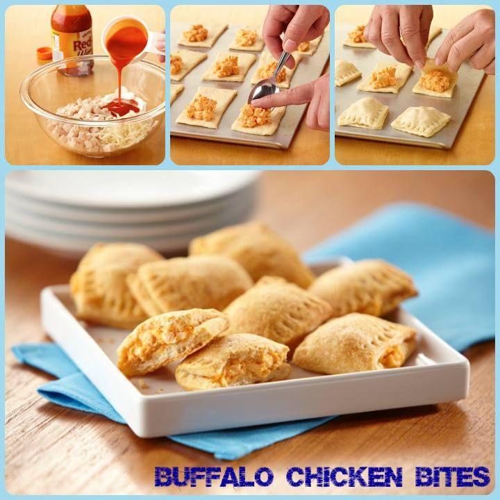 Buffalo Chicken Bites Ingredients 2 Cans Pillsbury Seamless Dough Sheet 1c Diced Cooked Chicken