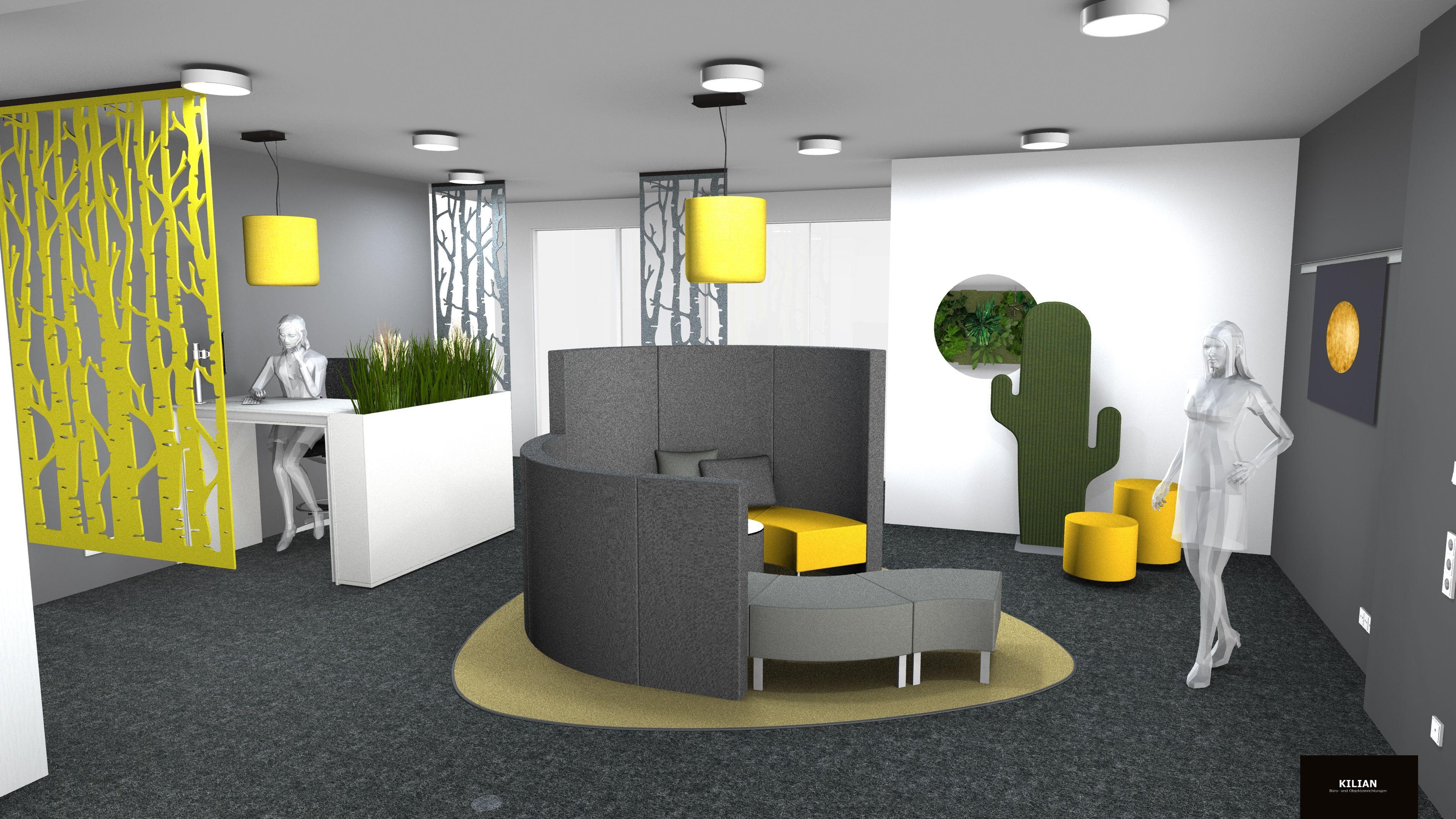 Planung Büroloungegruppe Empfangsbereich Büroplanung Meeting Point