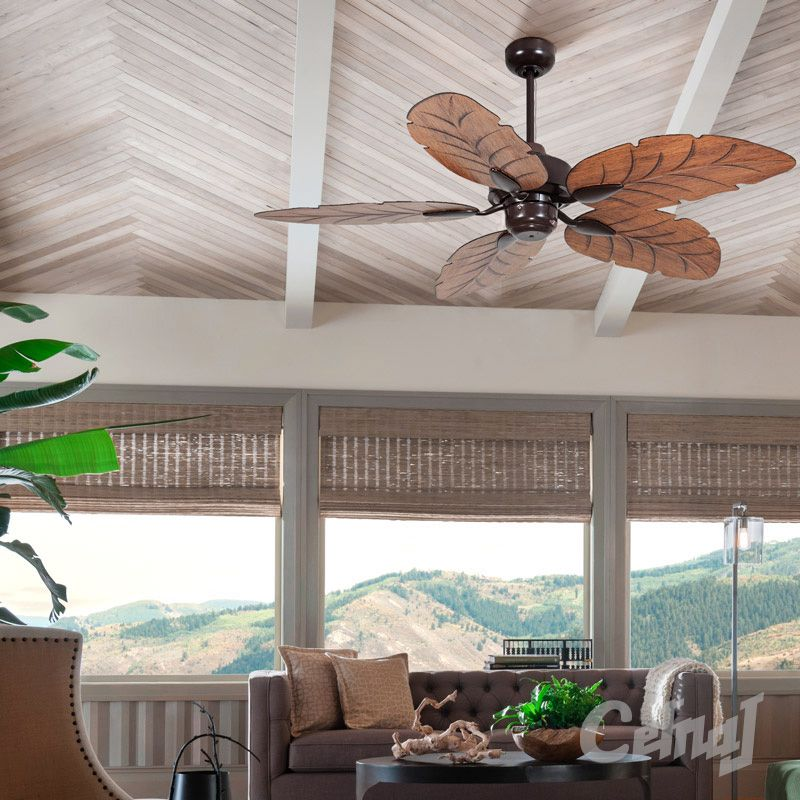 Cooya Ceiling Fan Brown Ceiling Fan Decorative Ceiling Fans