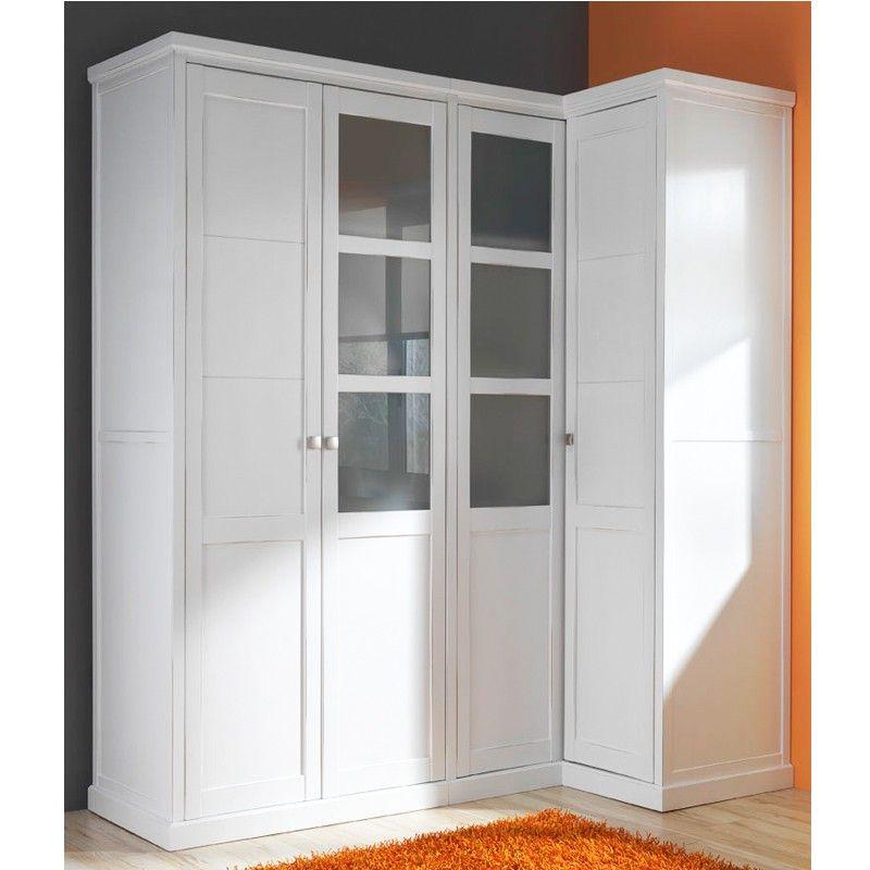 Armario con m dulo para rinc n madera haya decoraci n muebles armario esquina armario - Armarios de esquina a medida ...