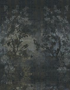 Wall And Deco Midsummer Night Wallpaper Wall And Deco  Couleurs  Pinterest