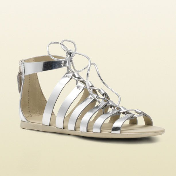Gucci Kids' SS 2014 Collection: Silver Fabric Sandal