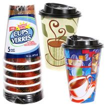 Bulk 16 Oz Disposable Foam Coffee Cups With Lids 5 Ct Packs At Dollartree