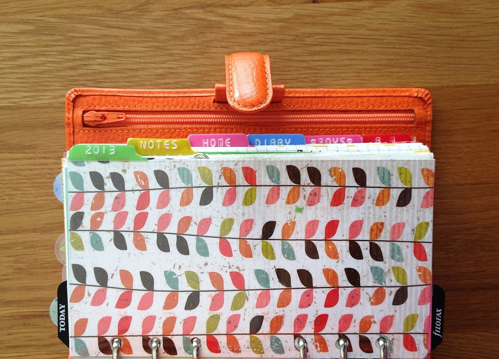 the cheerful orange finsbury www.littleredmoose.blogspot.com #filofax #finsbury