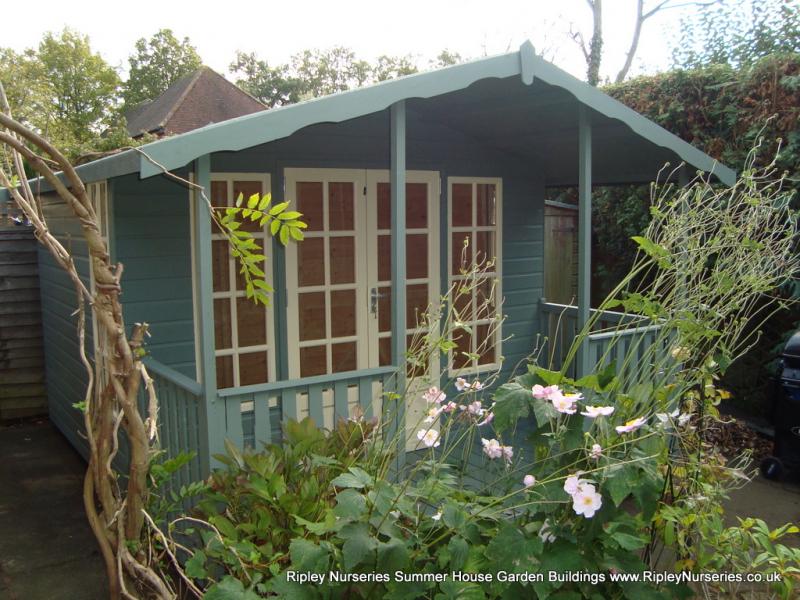 Garden Sheds Ripley petersham summerhouse 12x8, 4' verandah, painted finish.   ripley