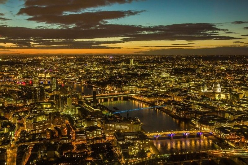 London Panorama City Night View Among the earth's most explored areas London possesses something for everyone: with history and heritage��_