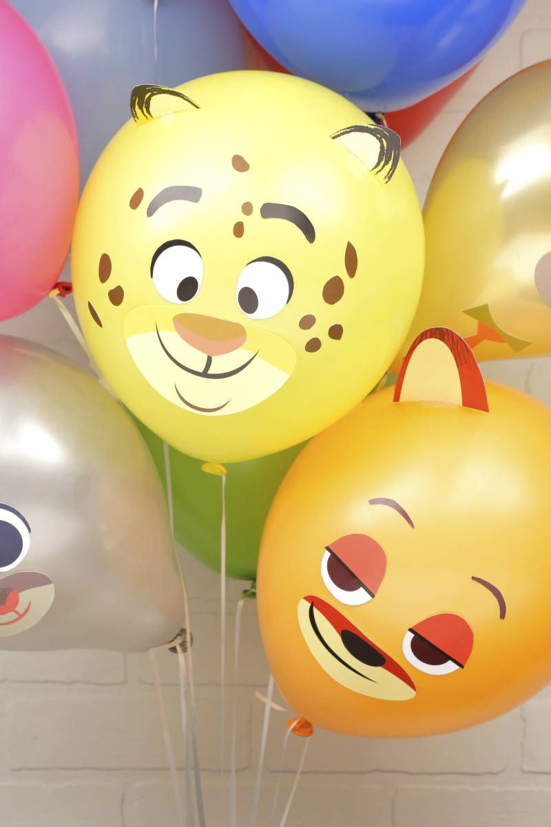 Fun Balloons Inspired By The Characters Of Zootopia