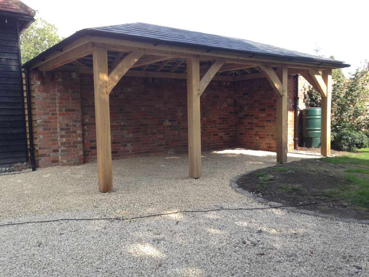 oak car port oak frame guide oakframe carport sheds pinterest terrasses. Black Bedroom Furniture Sets. Home Design Ideas