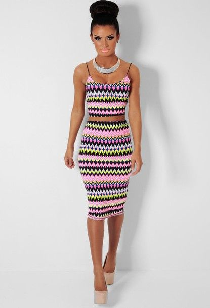 7310714342514 Ziggy Mix Multicolour Print Crop Top and Midi Skirt Two Piece