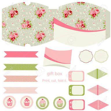 cupcake box templates free download - Google Search blom ask - gift box templates free download