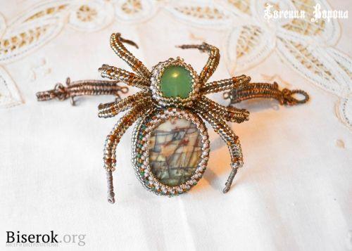 Spider Bracelet / Wristband / Biserok.org