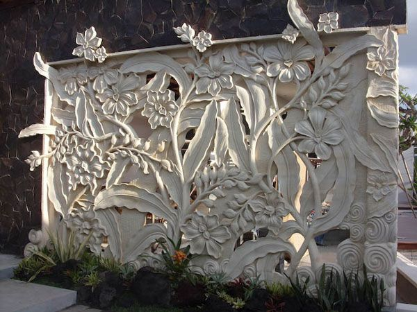 Bali carving production stone home and