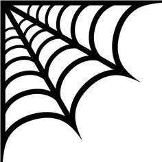 Spider web corner. Template google search icing