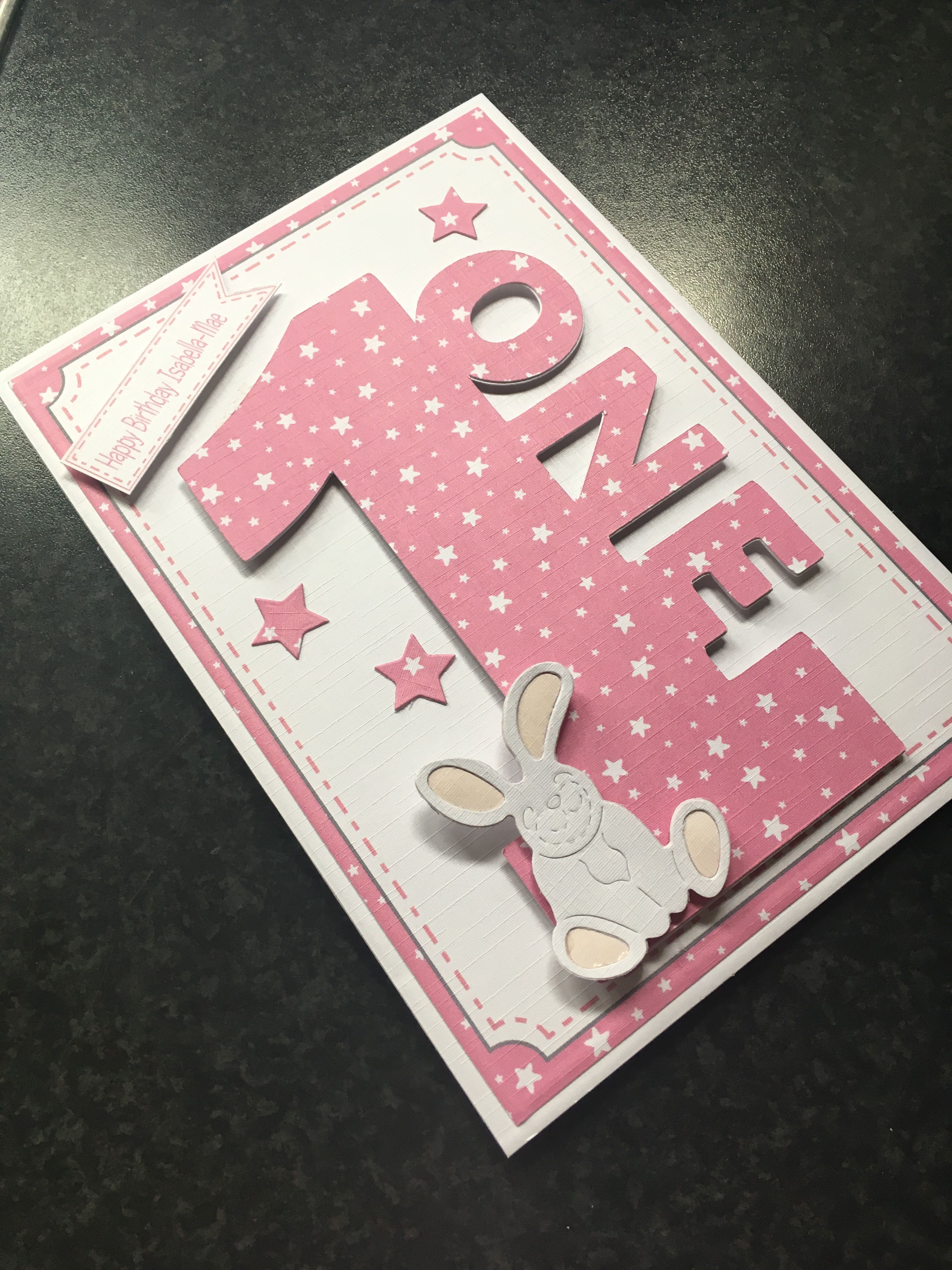 Handmade 1st Birthday Card For Baby Girl Baby Cards Handmade Handmade Birthday Cards Girl Birthday Cards