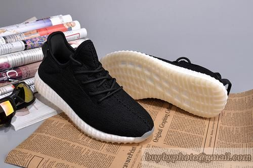 588a791b6328b4 Men adidas yeezy boost sneakers black white only us follow jpg 500x332  White yeezy 650