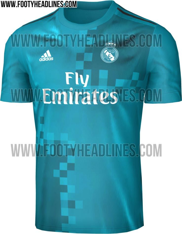 The Real Madrid 2017-18 third kit introduces a fresh look in teal ... c76e4b18101b1
