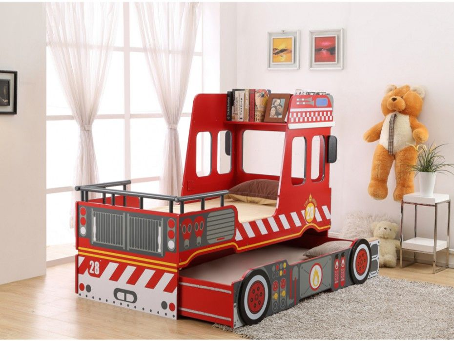 Votre Bambin Rêve De Devenir Pompier Offrezlui Le Lit Gigogne - Lit gigogne pompier