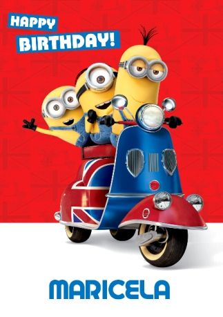 Minions Scooter Happy Birthday Card Funky Pigeon Maricela