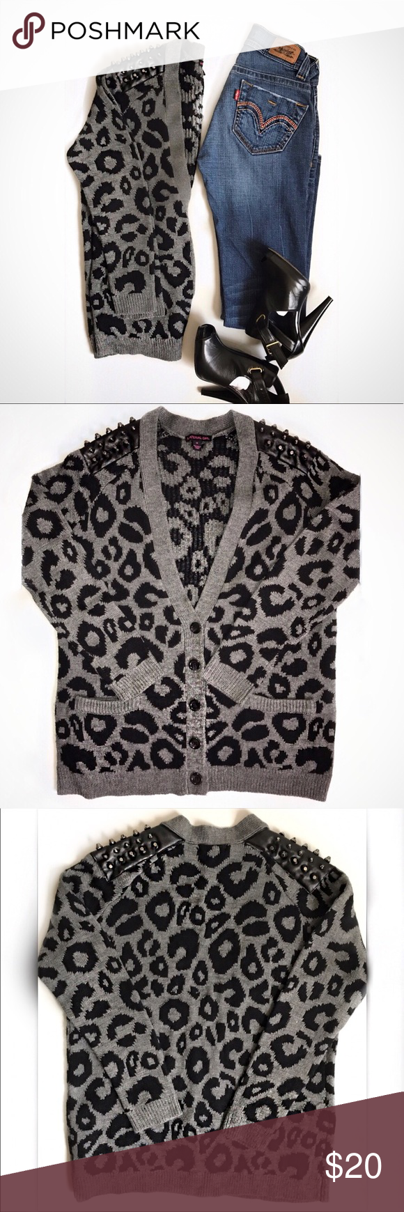 Material Girl Leopard Print Sweater | Material girls, Black ...