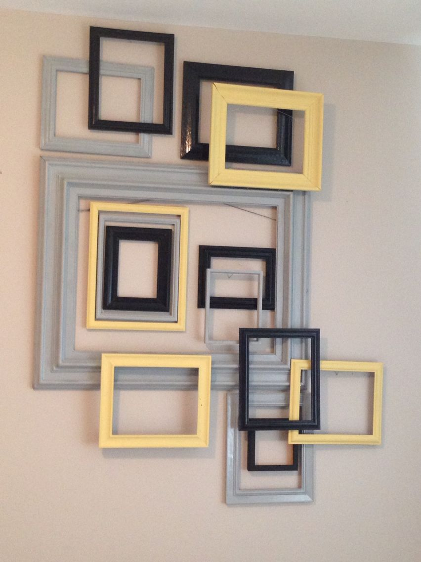 Empty Picture Frame Wall Decor from i.pinimg.com