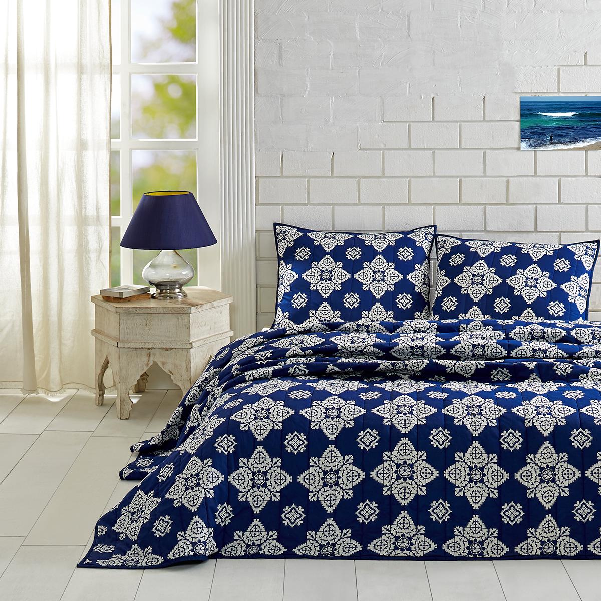 Adelaide Twilight Blue King Set; Quilt 95x105-2 Shams 21x37 ... : quilting shops adelaide - Adamdwight.com