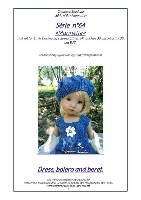 64.++English+and++French+INSTANT+DOWNLOAD+PDF+knitting+Pattern ...