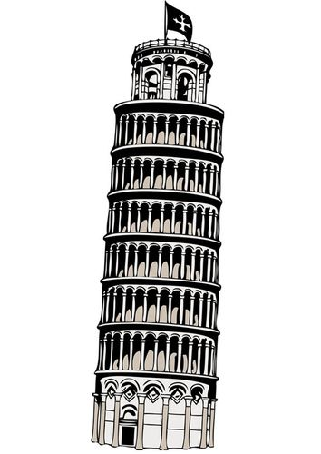 Coloring Page Tower Of Pisa Img 17085 Pisa Tower Leaning Tower Of Pisa