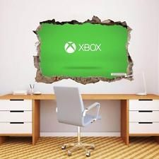 xbox logo smashed wall decal graphi wall stickers on wall logo decal id=59915