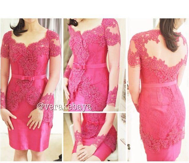 Vera Kebaya 18 Pink Tampak Belakang Kebaya