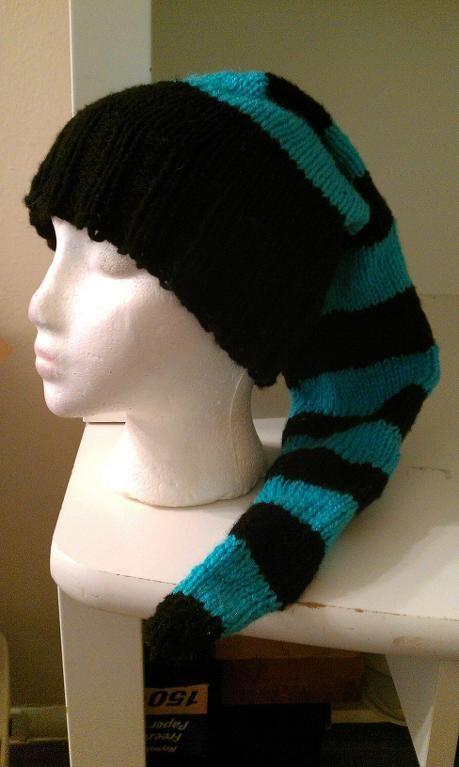 Long Toboggan Hat Stocking Cap 5 Layer Mexican Dip Knitting