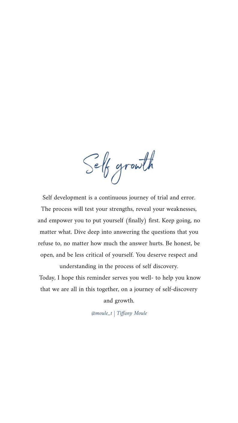 Self Growth PRINT (Digital) Quote by Tiffany Moule