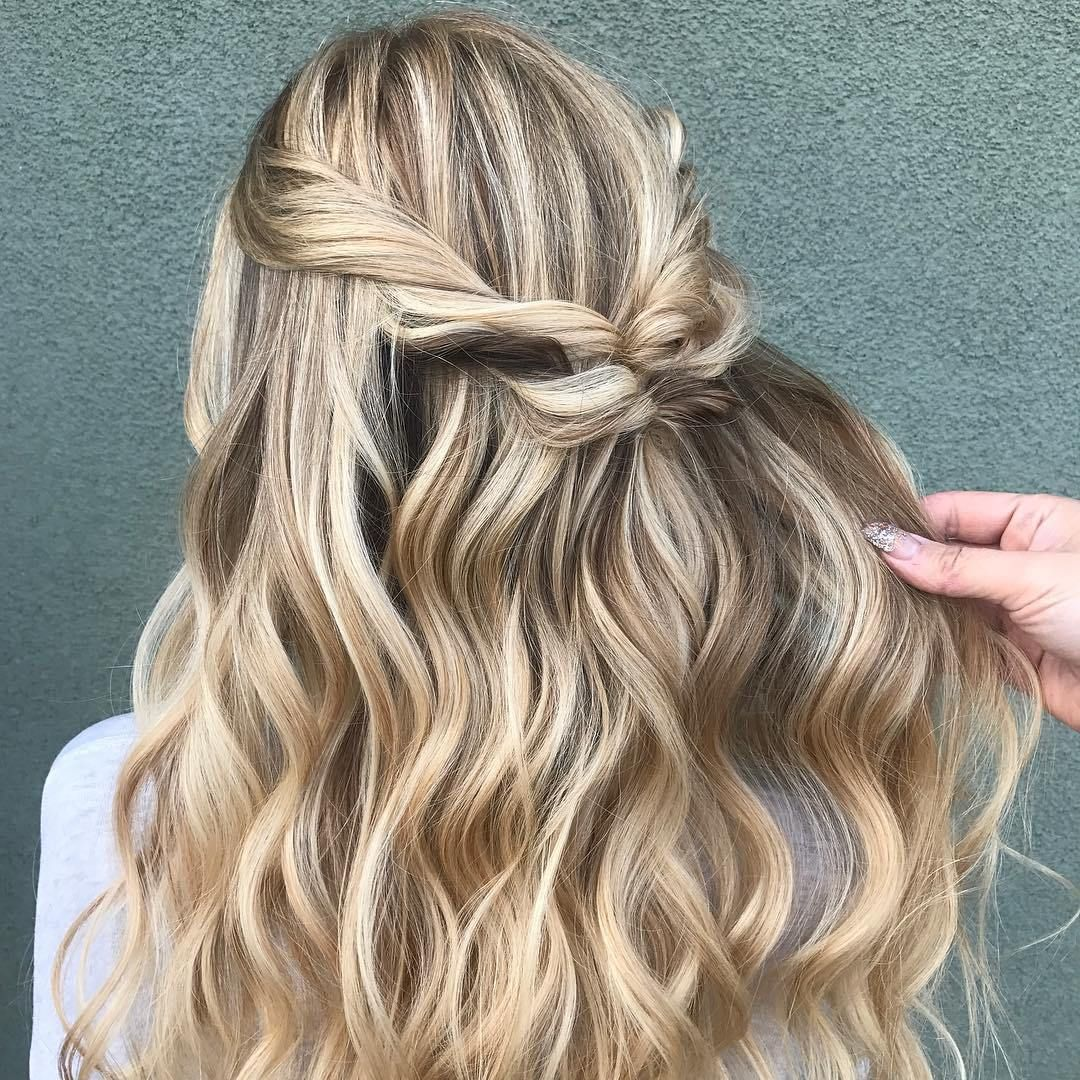 Half up half down hairstyle #hairstyles #haircolor