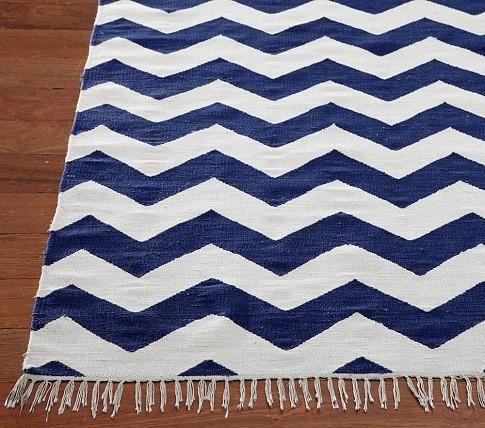navy blue and white chevron rug | home decor | pinterest | chevron