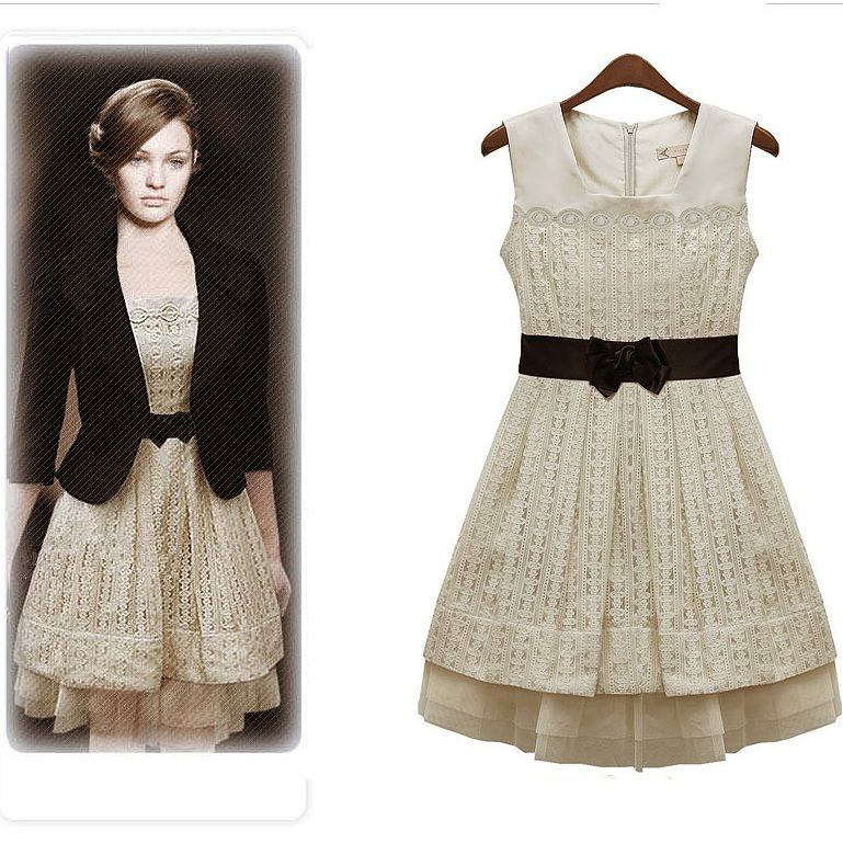 vintage inspired fashion | ... style Retro Lace Sleeveless vest ...