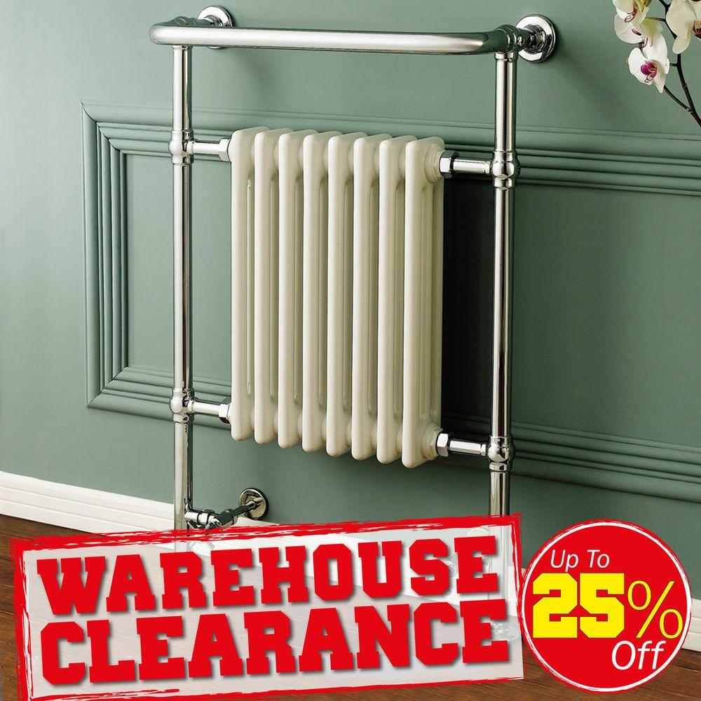 Limited Stock Ex Display Traditional Heated Towel Rail Chrome Bathroom Radiators Traditional Towel Radiator Towel Rail Bathroom Radiators