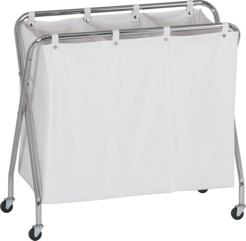 3 Section Laundry Sorter In Laundry Crate And Barrel Laundry