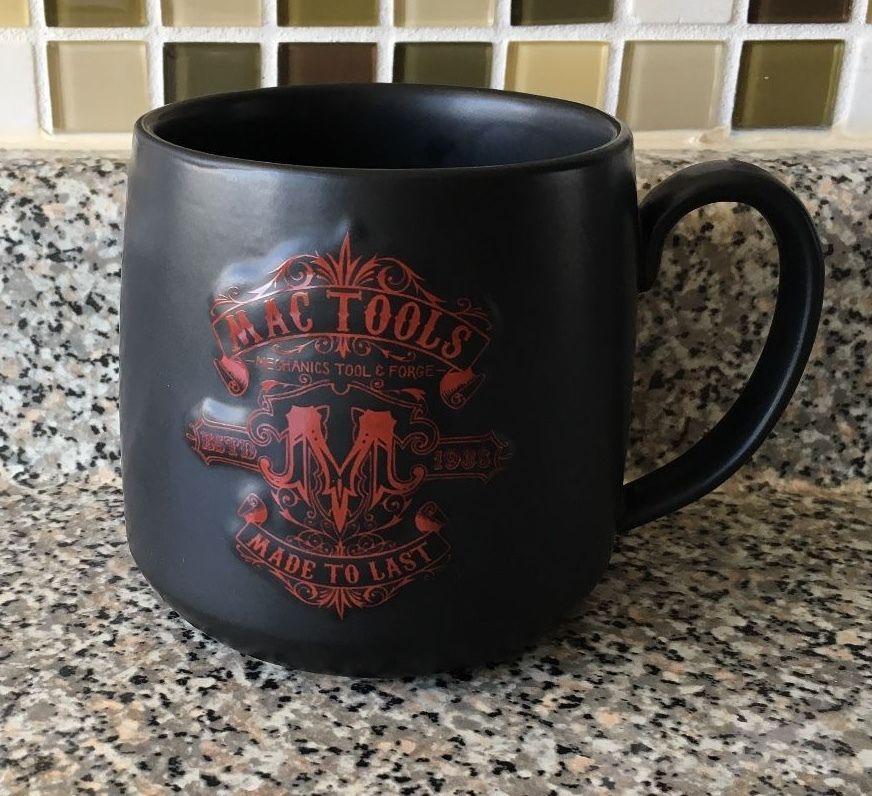 Mac Tools Black Coffee Mug Cup Mechanics Tool Forge Emboosed Made To Last