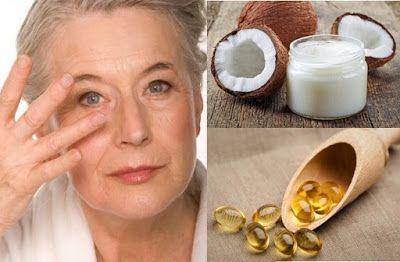 Crema natural de aceite de coco y vitamina E para rejuvenecer el contorno  de los ojos ~ Vive Por Mas Tiempo | Health, Vitamin e, Hair beauty