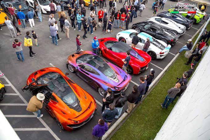 SupercarShow Newport Beach Der Teuerste Parkplatz Der Welt - Newport lamborghini car show