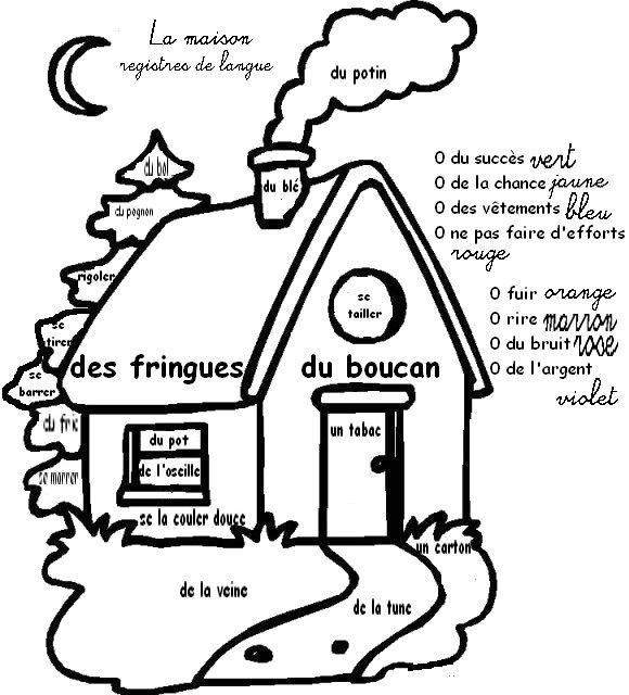 Coloriage magique les registres de langue cm1 cm2 - Coloriage magique cm2 francais ...