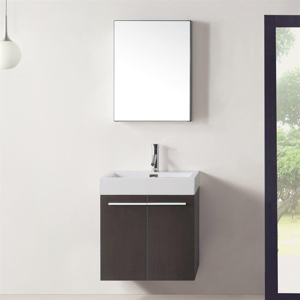 Shop Virtu USA JS-50124 Midori Single Sink Bathroom Vanity at ATG ...