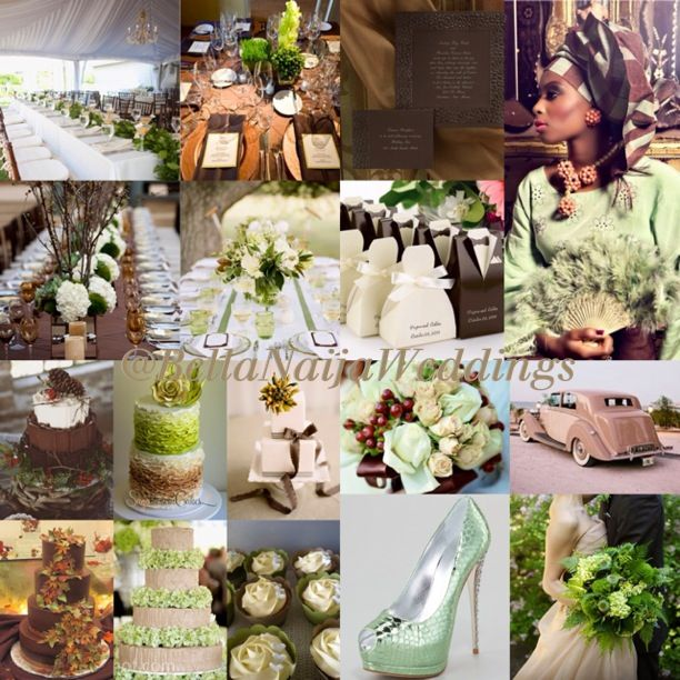 Mint Green And Chocolate Brown Wedding Color Colour Inspiration Board