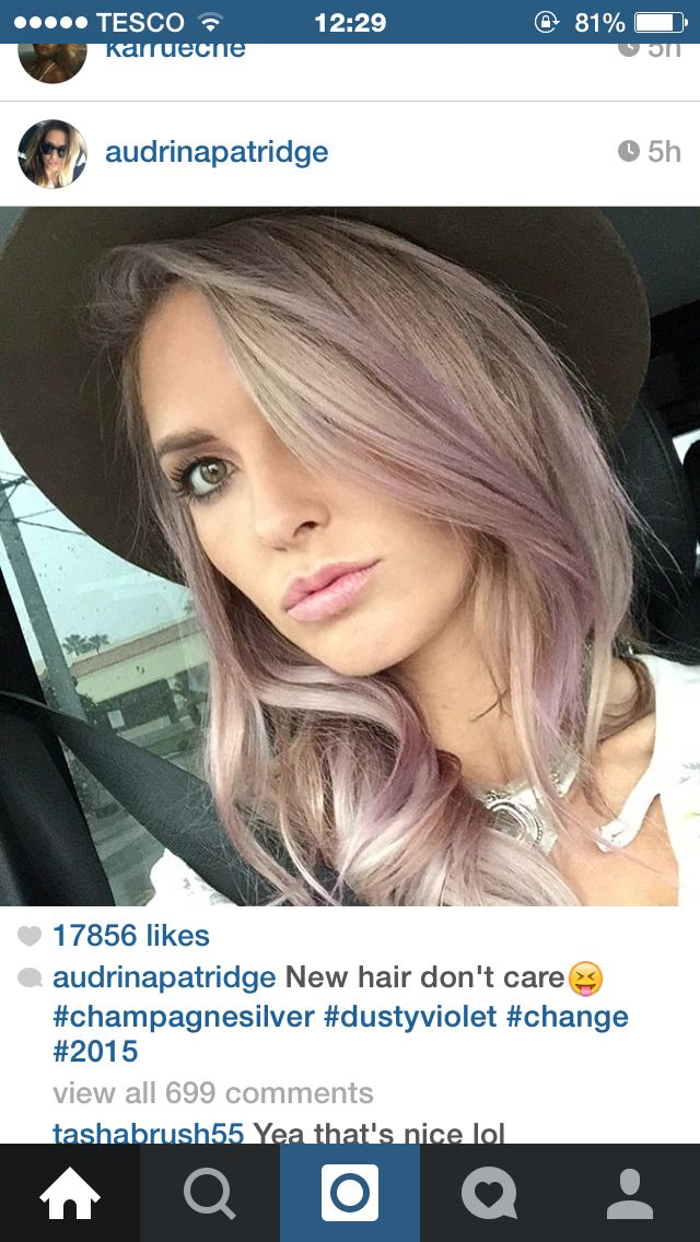 Audrina Patridge New Hair Silver And Lilac Tones Gorgeous My