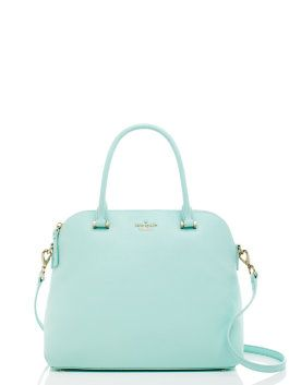 Kate Spade: Pastels are always in for spring! Get your hands on this pale blue Emerson Place Margot bag!