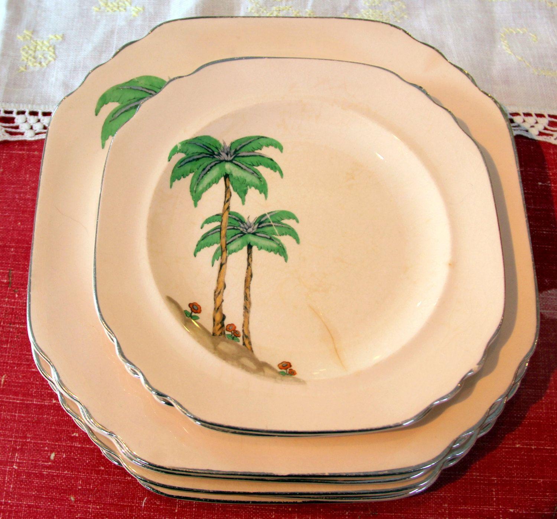 Sebring China Plates Set - Art Deco - Miami Pattern available at NostalgiaVermont on Etsy & Sebring China Plates Set - Art Deco - Miami Pattern available at ...