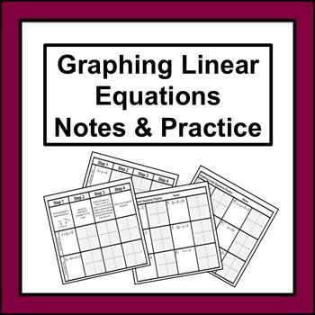 Graphing Linear Equations Notes And Practice Equation Worksheets